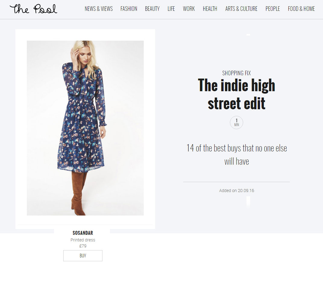 The Pool - The Indie High Street Edit