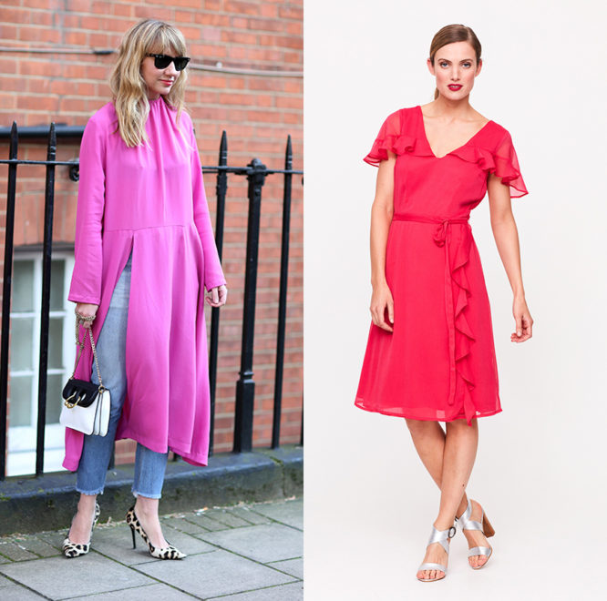 Channel the bright pink trend with a statement dress