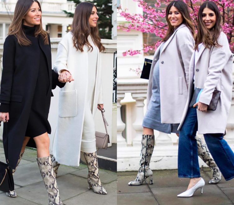 Bloggers We Are Twinset wearing Sosandar snake print knee-high boots
