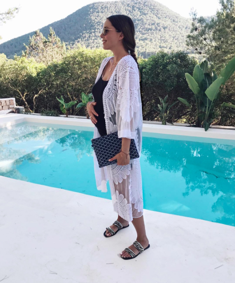 Blogger Anneli Bush works the perfect holiday look in our lace kimono, £49.