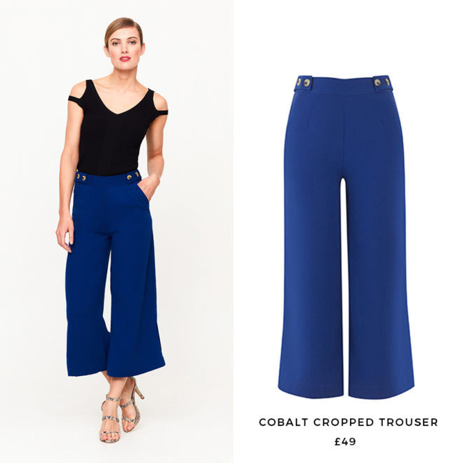 Bring your tailoring into spring with a cropped cut and on-trend cobalt hue.