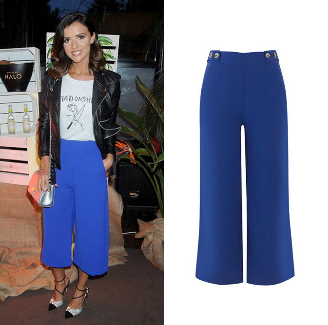 Brighten up any look with our cobalt cropped trousers.Brighten up any look with our cobalt cropped trousers.