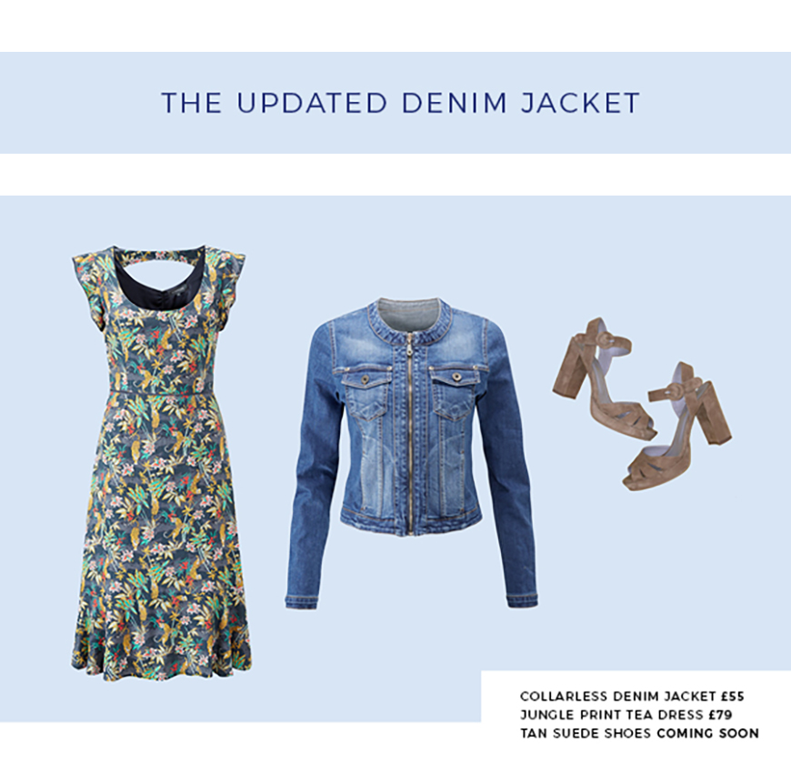 How to wear the denim jacket now