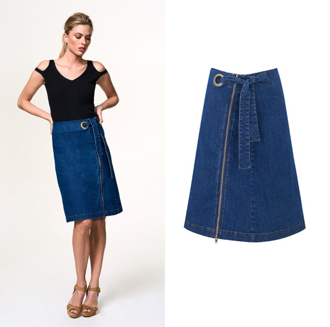 Seriously versatile, you'll wear our denim skirt with everything.