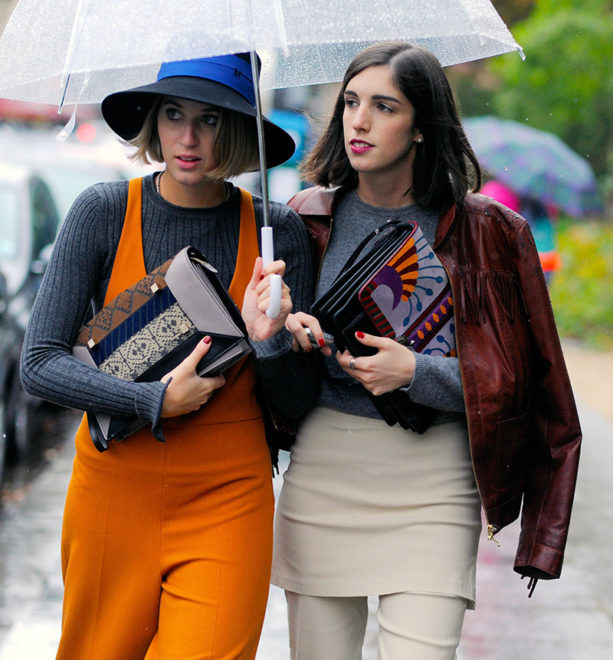 Street stylers taking on the rain