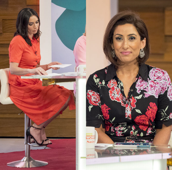 Christine Lampard and Saira Khan wearing our shirtdress on Loose Women