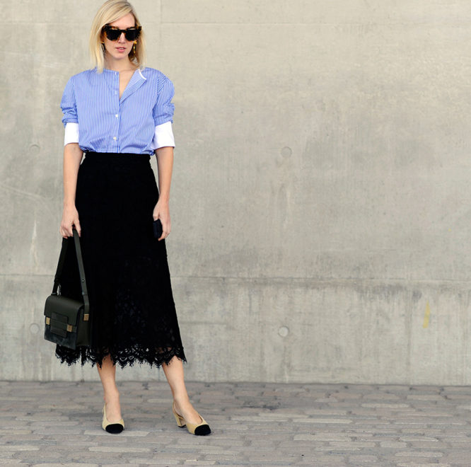 Fashion Editor Jane Keltner de Valle nails spring workwear