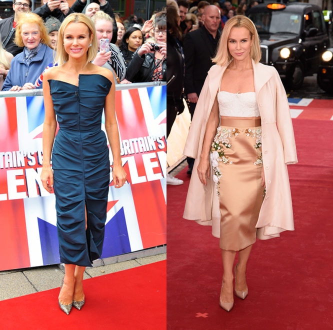 Amanda Holden working statement outfits at the Britain's Got Talent auditions