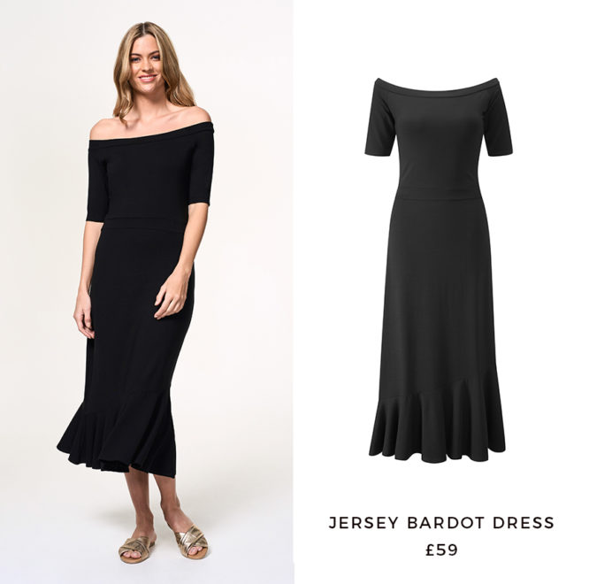 Black Jersey Bardot Dress, £59