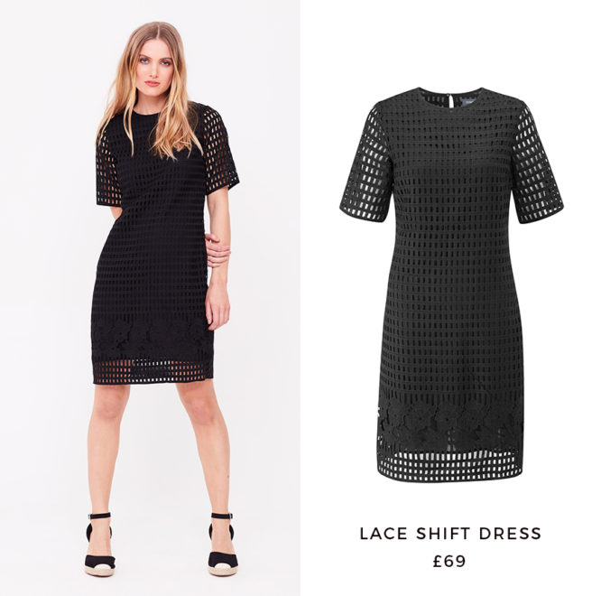 Black Lace Shift Dress, £69