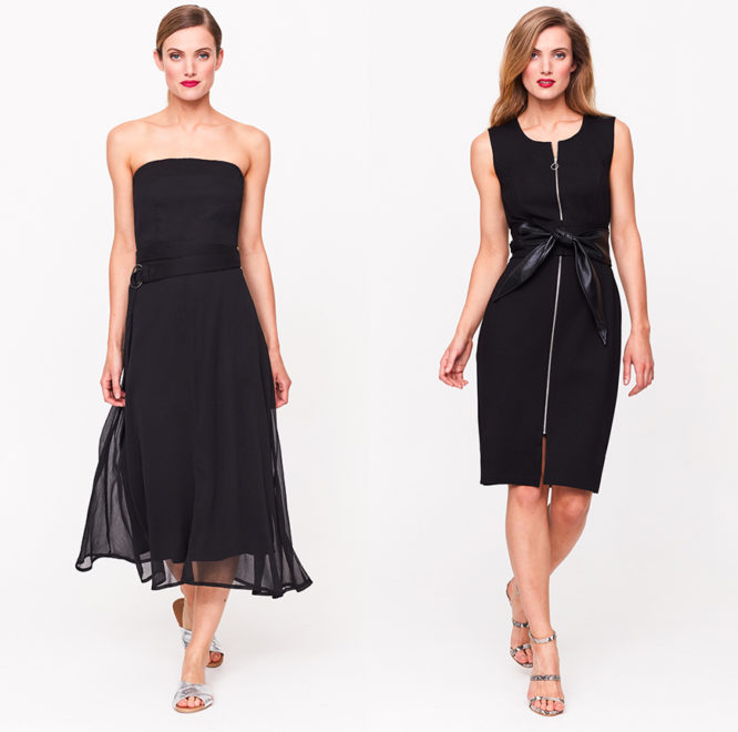 Black Bandeau Dress, £59, Black Belted Dress, £69