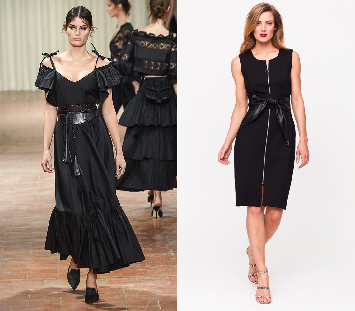 Channel the Alberta Ferretti catwalk with our leather-look obi belt dress.