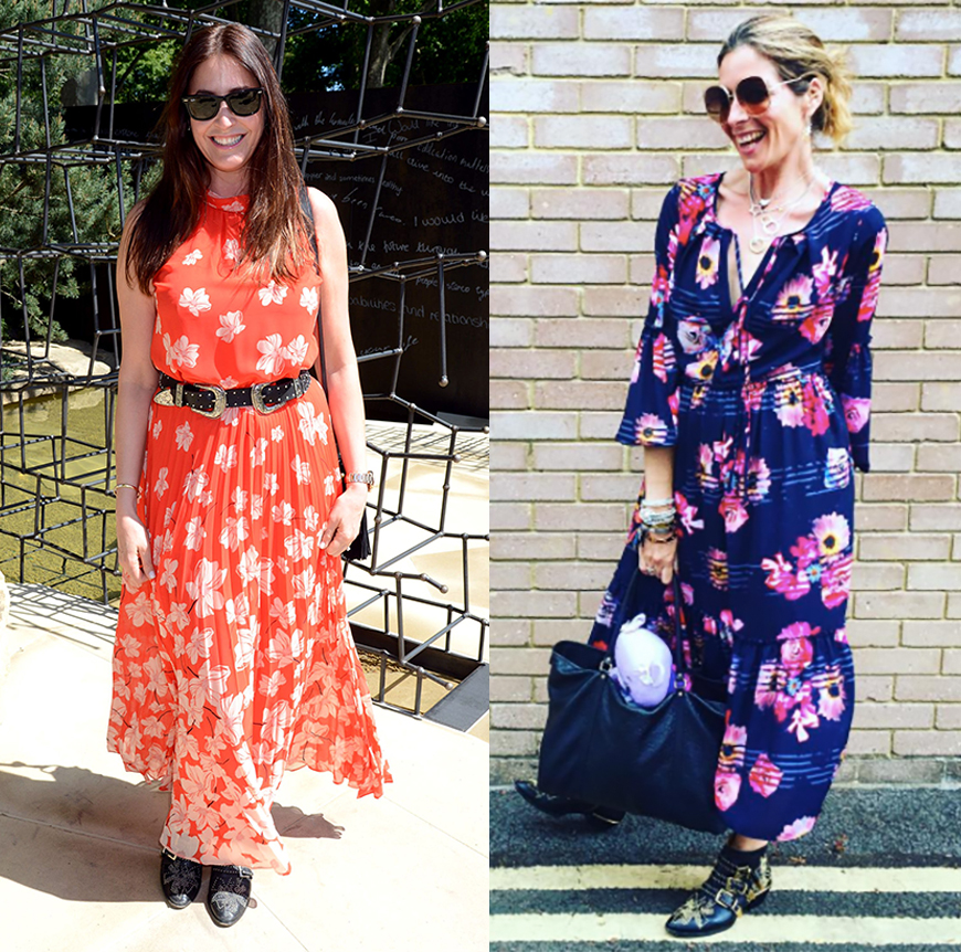 We love Lisa Snowdon and Kat Farmer's maxi dress and boot combos.