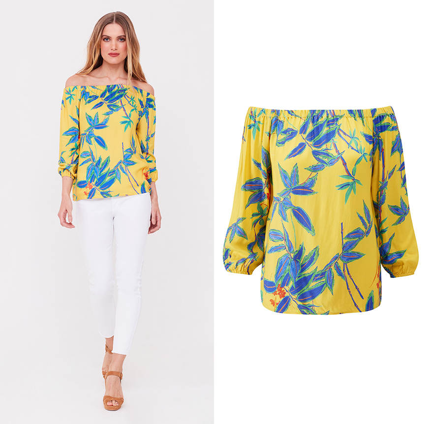 Tropical Bardot Top, £39