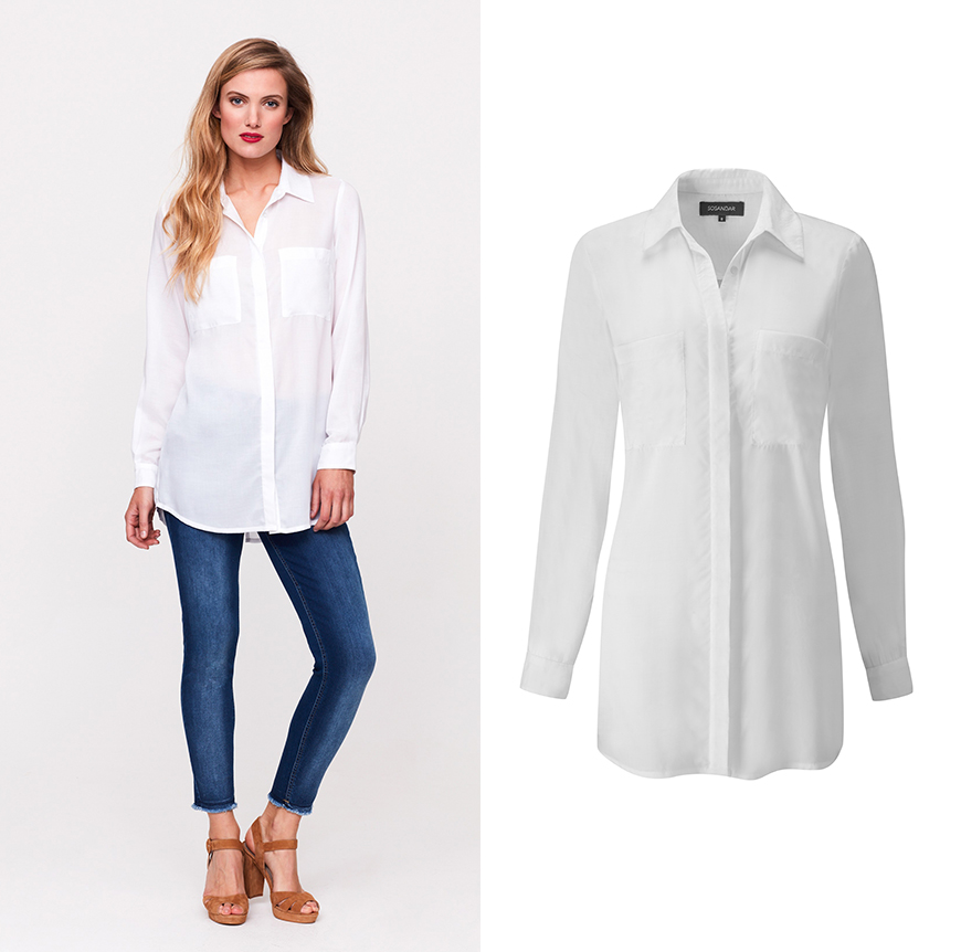 Semi-Sheer White Shirt, £39