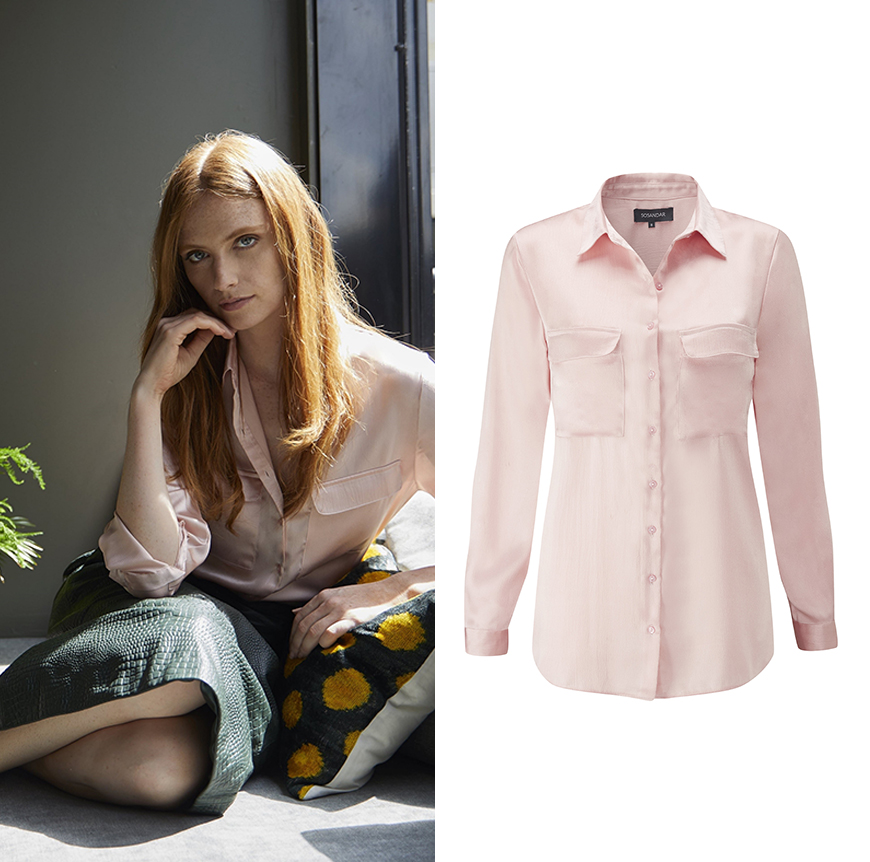 Blush Pink Satin Shirt, £45.