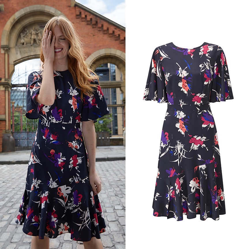 Oriental Floral Bell Sleeve Dress, £79.