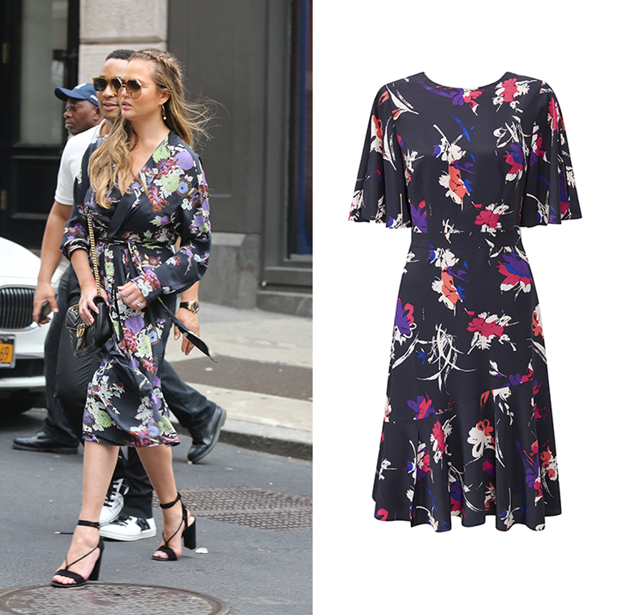 Chrissy Tiegan Oriental floral dress