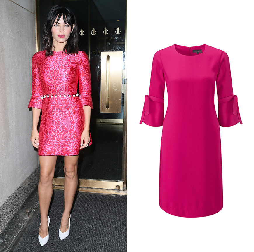Jenna Dewan hot pink dress