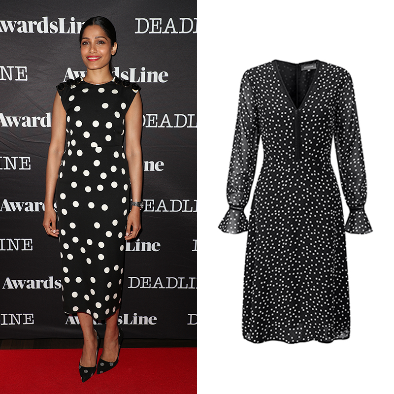 Freida Pinto Polka Dot Dress