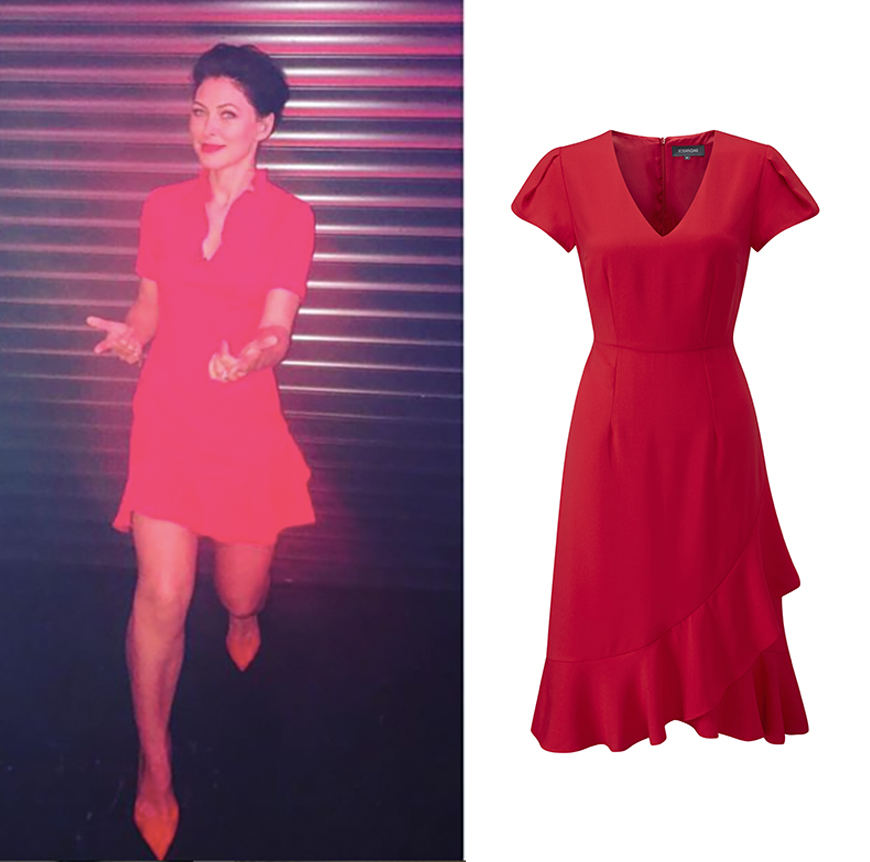 Emma Willis red dress