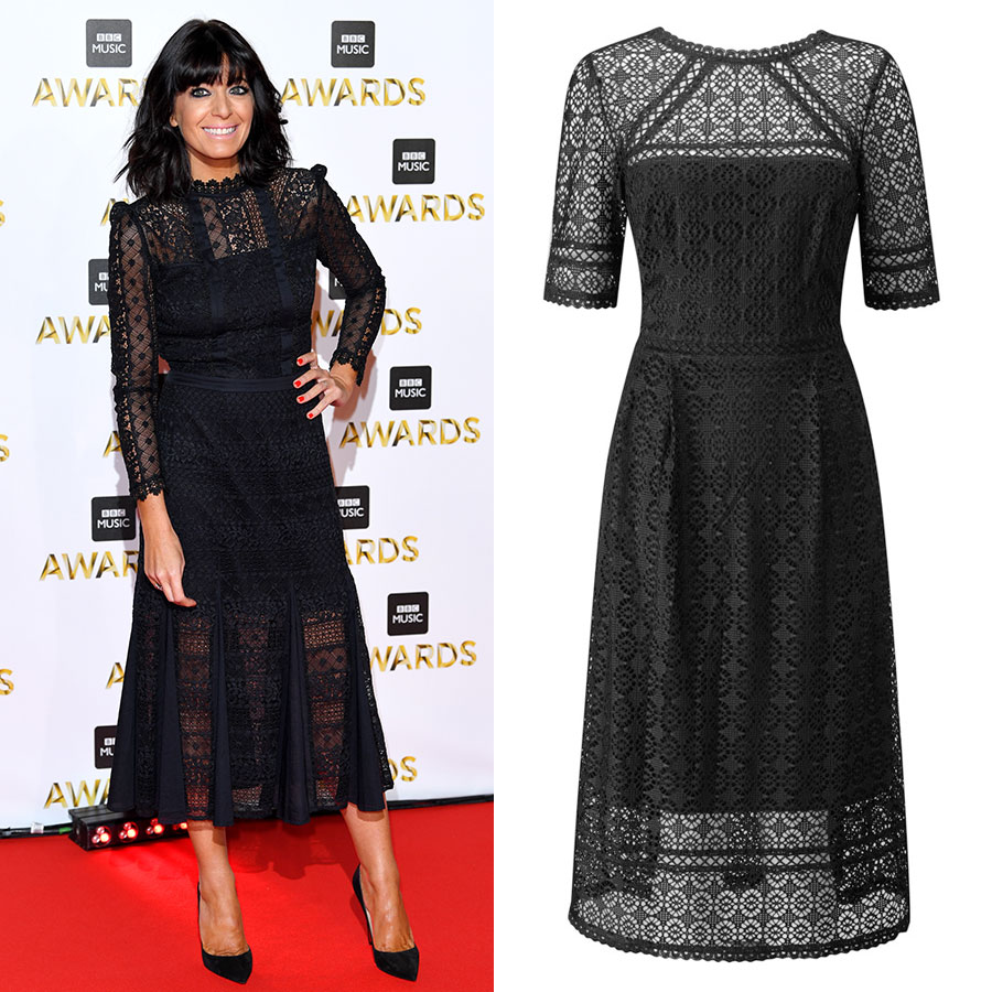 Claudia Winkleman lace dress