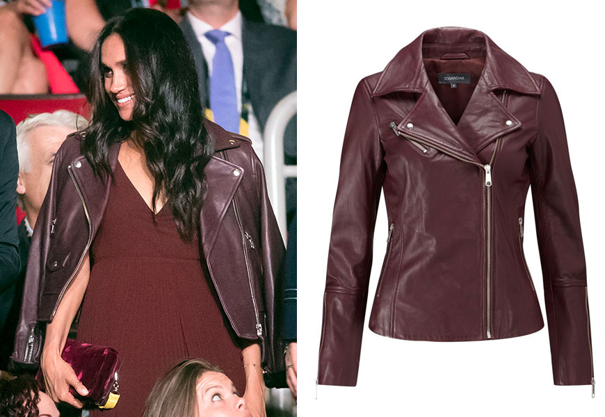 Meghan Markle's Leather Biker Jacket