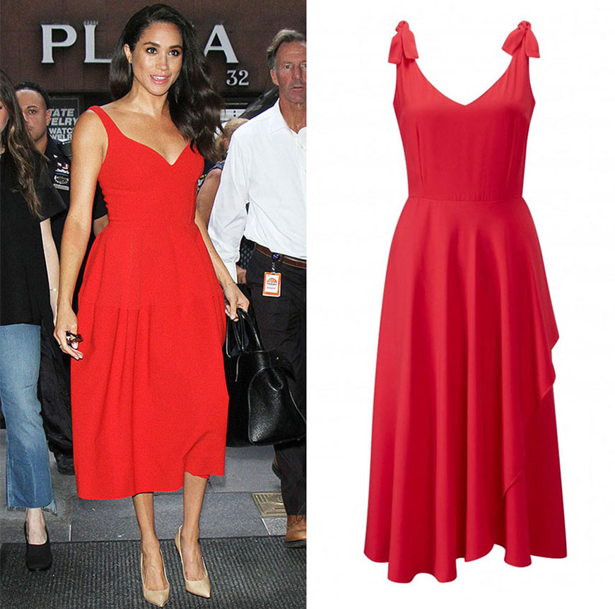 Meghan Markle Red Dress
