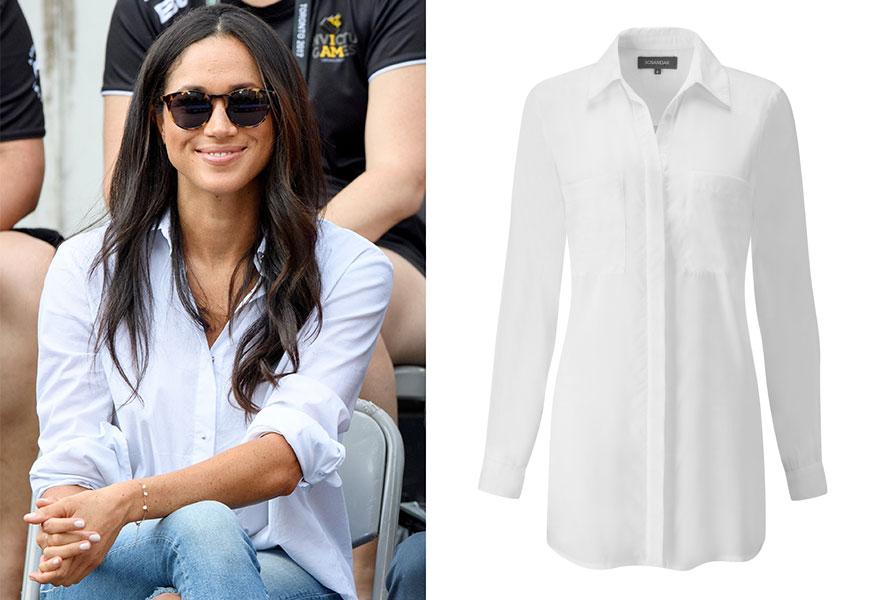 Mghan Markle White Shirt