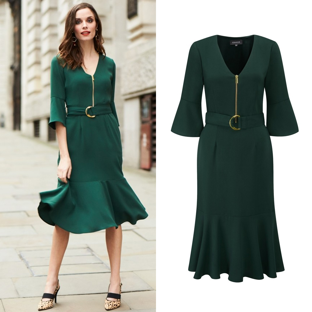 Green D Ring Dress