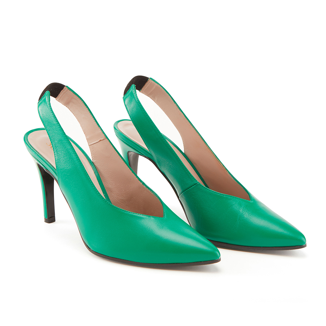 Emerald Green Slingback Shoes